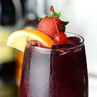 Strawberry Rye Sangria (The Chop House)